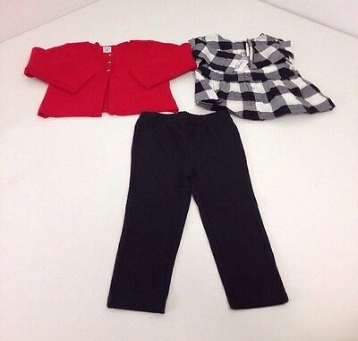 CARTERS INFANT GIRL 3 PIECE LAYETTE SET 24M NWT $40