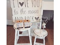 Love you to the moon and back plaque