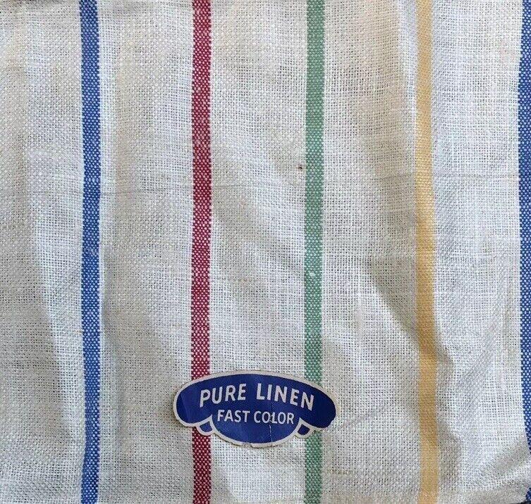 Vintage USA Linen Kitchen / Tea / Hoosier / Dish Towel 16x28 unused!