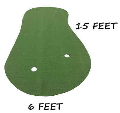 6 x 15 SyntheticTurf Grass Nylon Practice Putting Golf Green Indoor or Outdoor