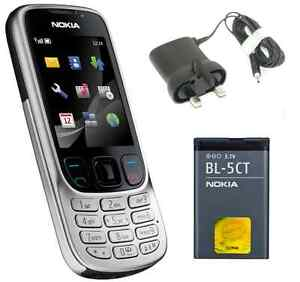 New Condition Nokia 6303 C Classic Silver Unlocked Camera Bluetooth Mobile Phone