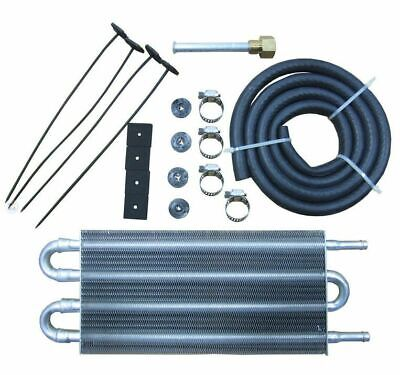 Universal Aluminum Radiator Converter Transmission Oil Cooler Remote Manual-Auto