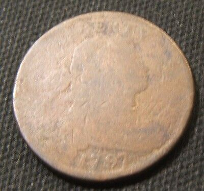 1797 DRAPED BUST  LARGE CENT--217 YEAR OLD
