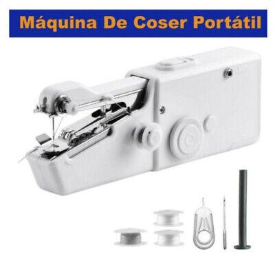 Maquina De Coser Portátil Mini De Mano Eléctrica Viaje Sin Cables Costura...