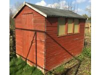 "Second Hard Garden Shed, 6""x 8"" with wooden based."