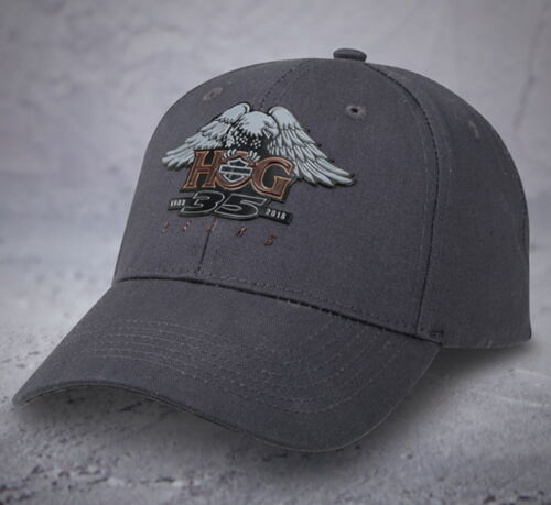 HARLEY DAVIDSON OWNERS GROUP 35TH ANNIVERSARY HOG EAGLE HAT BALL BASEBALL  CAP