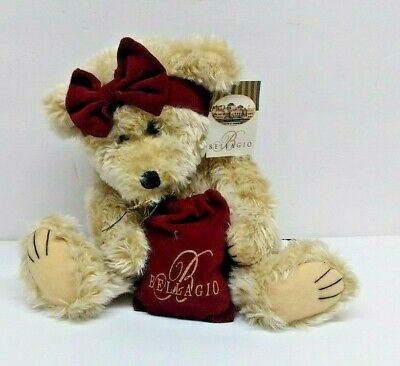 1998 WISHPETS CO. BELLAGIO HOTEL CASINO LAS VEGAS SOUVENIR BEAR PLUSH