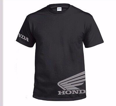 T  Shirt Honda Wing Flock Logo Vinyl Motocross Free Shipping