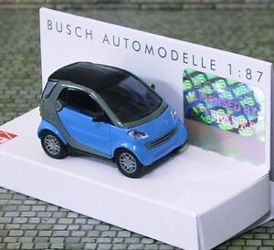 'BABY BLUE' SMART CAR - HO SCALE by BUSCH