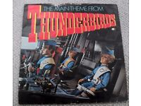 BARRY GRAY ORCHESTRA: THUNDERBIRDS [ MAIN THEME]. 1981 PICTURE SLEEVE.
