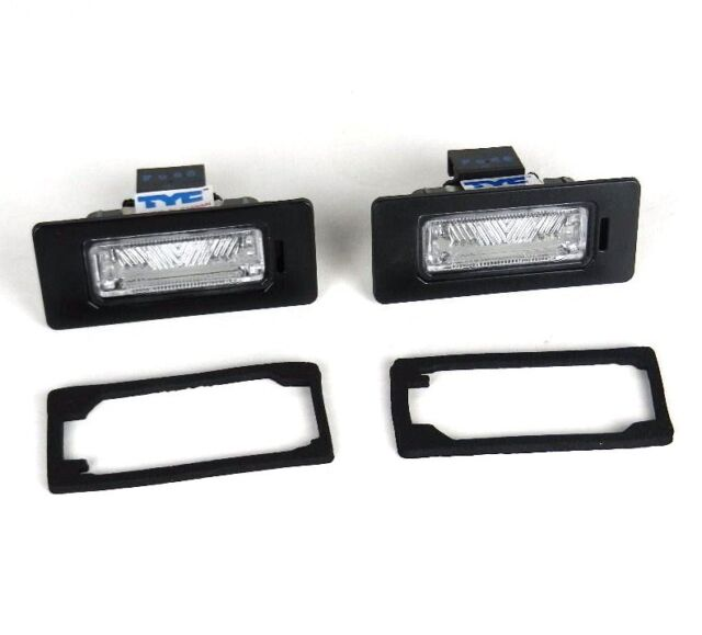 AUDI A1 A4 A6 A7 Q5 SKODA FABIA YETI SUPERB  - Number Plate Lights Lamps - PAIR