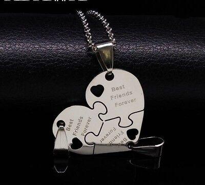 BFF Necklace Heart Best Friend Necklaces Pendant Friendship Jewelry Charm - 3pcs