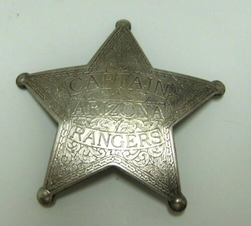 Old West Silver Plated Deputy Sheriff Dress Badge Captain Arizona Ranger