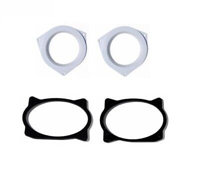 Aftermarket Speaker Adapter Plates Front And Rear Door Pack Install Fits Toyota ()