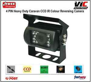 4 PIN Heavy Duty 12V 24V CCD IR Colour Reverse Reversing Camera Rearview
