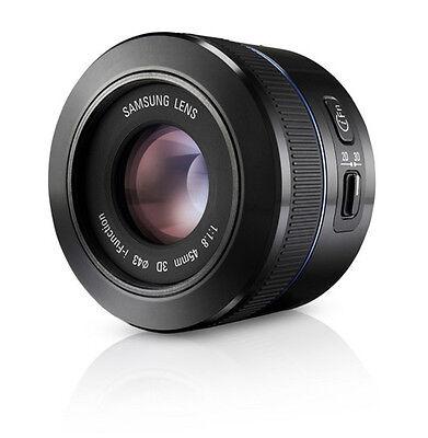 SAMSUNG NX 45mm F1.8 i-function Lens Black (White Box)  -2d/3d compatible
