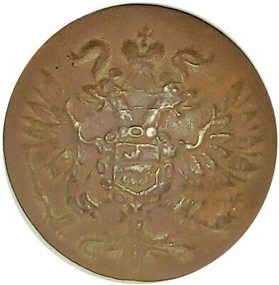 1870-1890 IMPERIAL RUSSIA HIGH RANKED MILITARY BUTTON  #WT4067