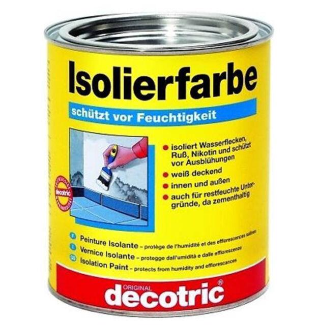 Decotric Isolierfarbe weiß   750ml     (18,53€/l)