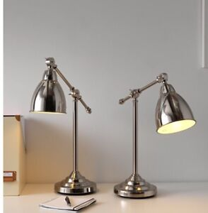 2 x nickel-plated bedside table lamps Mount Barker Mount Barker Area Preview