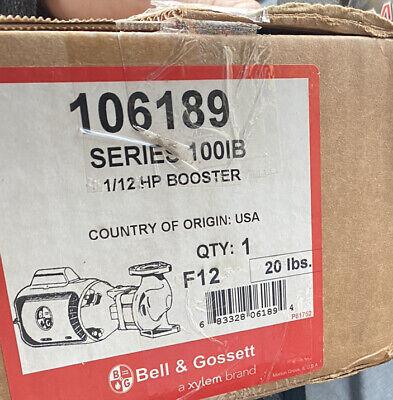New Bg Bell Gossett 106189 112 Hp Series 100 Nfi Circulator Pump