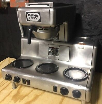 Bunn-O-Matic Automatic Coffee Brewer 5 Warmers Commercial Restaurant