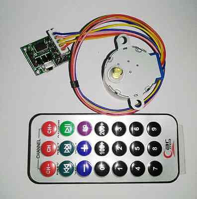 Dc 5v 4-phase 5-wire Stepper Motor Remote Control Speed Wireless Driver Board