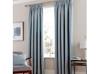 Dunelm Duck Egg Lined Pencil Pleat Curtains - Brand New
