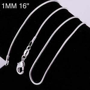 925 Hallmarked Sterling Silver Necklace Chain Snake Wholesale Mark Stamped Stamp
