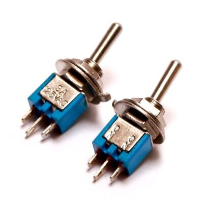 2x Spdt Sub Mini Toggle Switch On-on - For Guitar Eurorack - Us Seller