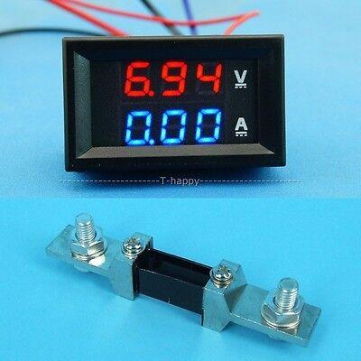 Dc 0-300v 200a Voltage Current Meter Digital Led Volt Ammeter Shunt 12v 24v
