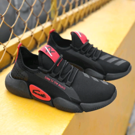 Mens Breathable Sneakers Mesh Sports Shoes - Athletic Shoes