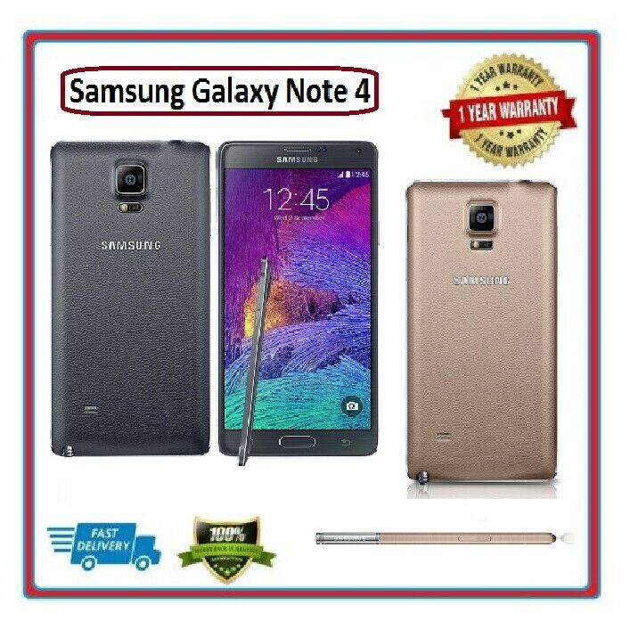 Android Phone - Samsung N910 Galaxy Note 4 32GB 4G LTE Sim Free Unlocked Smart Mobile phone