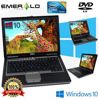 "Dell Latitude Laptop Windows 10 Intel Core 2 Duo DVD WIFI Notebook Computer 14"""