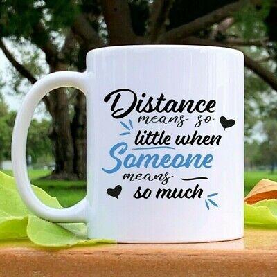 Long Distance Best Friend Mug gift, Distance Mean So Little, Going Away Tea
