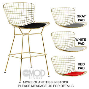 Bertoia Counter Stool Bertoia Wire Counter Stool Gold