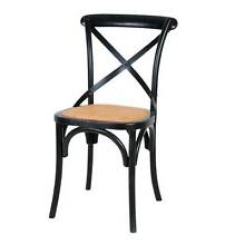 Black Cross Back / Provincial Dining Chairs now for sale Smithfield Parramatta Area Preview