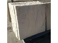 450x450 rivet/riven edge concrete paving slabs