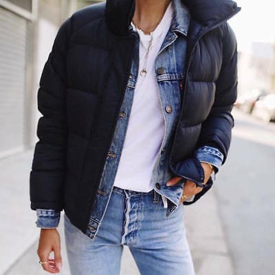 UNIQLO x J.W. Anderson JWA Light Down Jacket Puffer in Navy Blue Size Large L