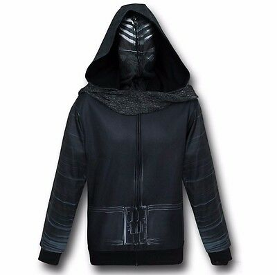 Star Wars Kylo Ren Costume Hoodie Adult Zip Up - Star Wars Costume Hoodie