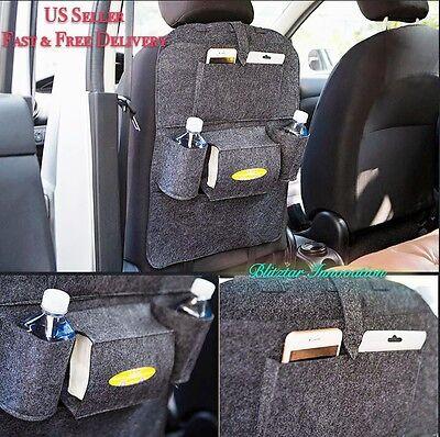 New Car Seat Back Multi-Pocket Leather Storage Bag Organizers Holder Multi-color