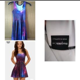 Black Milk Clothing Purple Galaxy Skater Dress