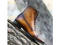 Mens patina handmade boot