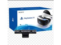 PS4 VR WITH CAMERA AND GAME
