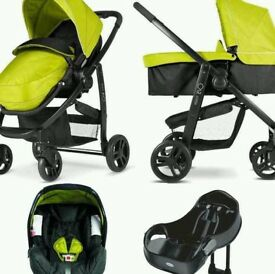 Graco Evo 3in1 travel system - lime green
