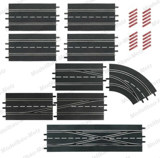 Carrera 30367 Digital 124/132 Extension set - Double-soft, Straight etc new
