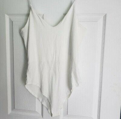 Ivory Womens Camisole (New Womens Ivory Bodysuit - Gaze - NWT -  soft - stretchy - Sexy Summer Cami top )