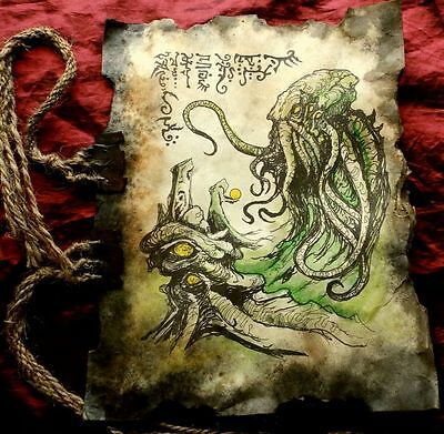 NECRONOMICON TOME FRAGMENT  Spawn of Cthulhu larp prop lovecraft monsters