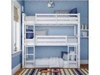 White 3 Tier Heavy Duty Bunk Bed