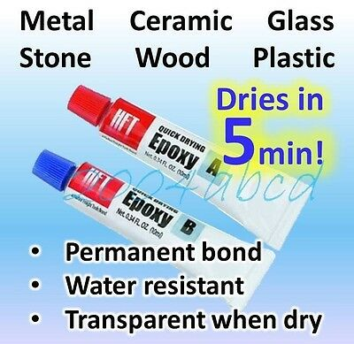 Super Strong Quick Setting -metal Ceramic Glass Wood Plastic...epoxy 20g Total