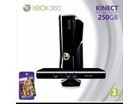 BOX 360 Special edition (250GB) with Kinect Sensor and games bundle + Nyko Zoom for Kinect